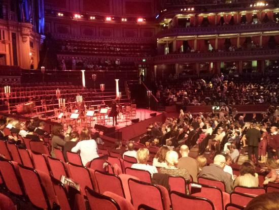 Stalls section h row 8 seat 20 picture of royal for Door 4 royal albert hall