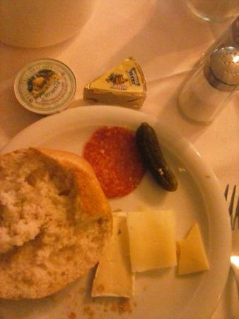 Pension Kraml: desayuno (a modo de ejemplo, había mucho más para elegir!)