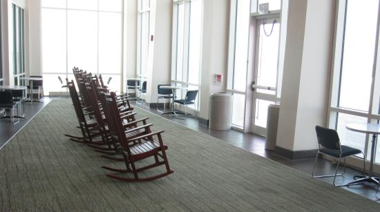 Cape May Convention Hall: A lounge area overlooking the ocean