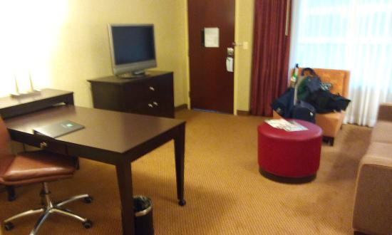 Embassy Suites North Shore / Deerfield: Living-room with a couch bed