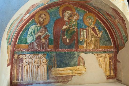 Abbazia della Ferrara : Affresco restaurato - foto Guglielmo D'Arezzo Photographs