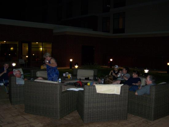 Homewood Suites by Hilton Joplin: Making ourselves at home around the firepit.
