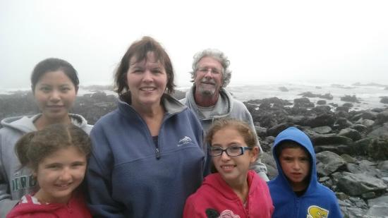Agate Beach: cold and windy
