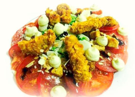 Salade italienne avec sa mozzarella di burrata et son for Cuisine italienne