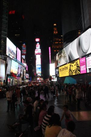 night view from duffy square