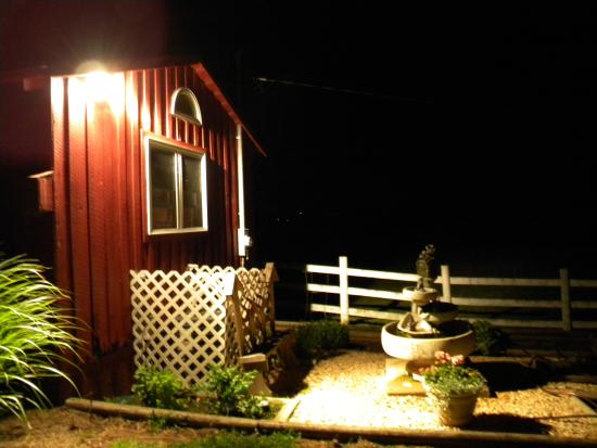 The Cottage at Ravens Roost Farm: Fountain outside the cottage