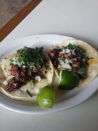 Speedy Taco's: Beef tongue and beef head tacos...delicious!
