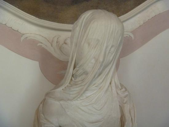 Ca' Rezzonico : A lady with a transparent veil - in marble!
