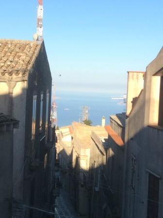 Hotel Moderno: View from our balcony in Erice