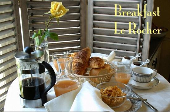 Le Rocher: Breakfast