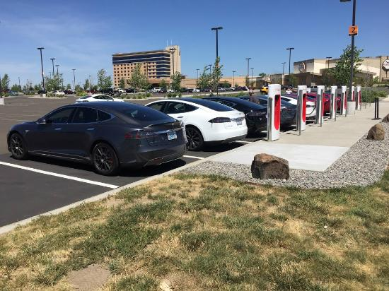 Wildhorse Resort & Casino : Wildhorse partnered with Tesla to add a Supercharger Station