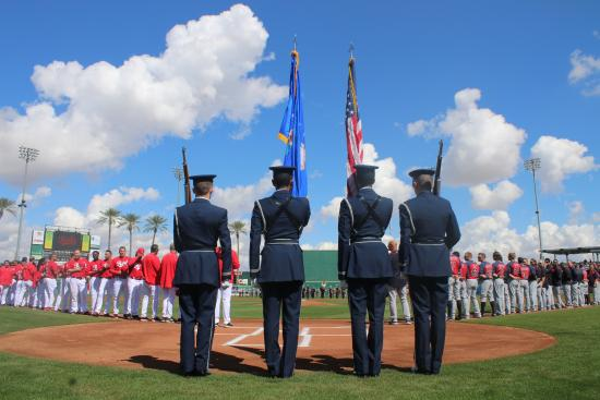 Goodyear, AZ: Opening Day pregame ceremony