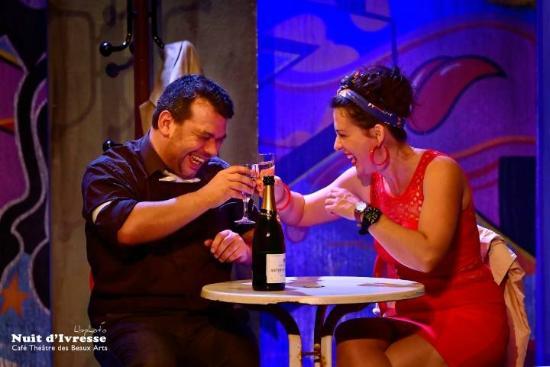 Café Théâtre des Beaux-Arts : Nuit d'ivresse avec Larra Mendy, Loïc Rojouan et Stéphane Caudéran
