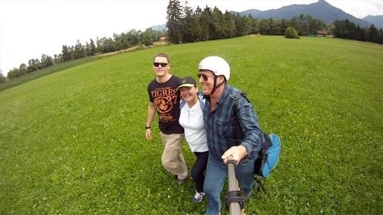 Paraworth Tandem Paragliding: Three happy paragliders!