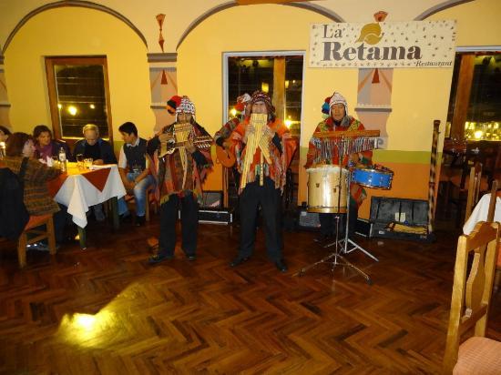 La Retama: Les musiciens au restaurent La Retema à Cuzco, Pérou
