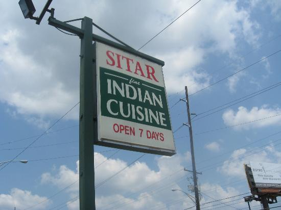 Sitar Indian Cuisine: Signage from roadside