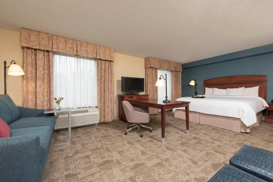 Hampton Inn & Suites Bloomington-Normal: King Studio Suite with Sofabed