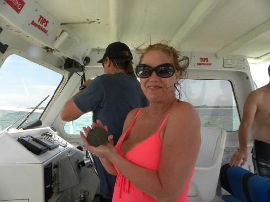 Panama City Beach Dolphin Tours & More: Sharing my sand dollar!!