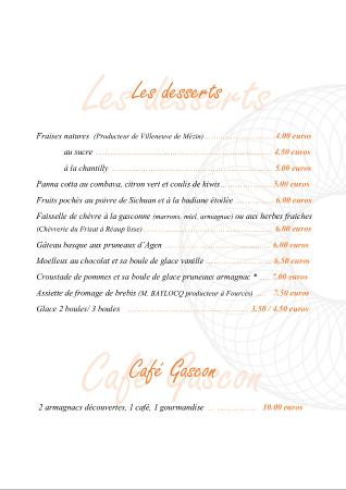 Auberge de Fources: desserts