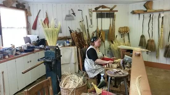 Ozark Folk Center State Park: Broom making, bought a multicolored wisk brook for hanging