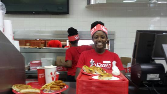 The Varsity Athens: Fast and friendly. 'Have your money in your hand and your order on your mind,  so we can get you