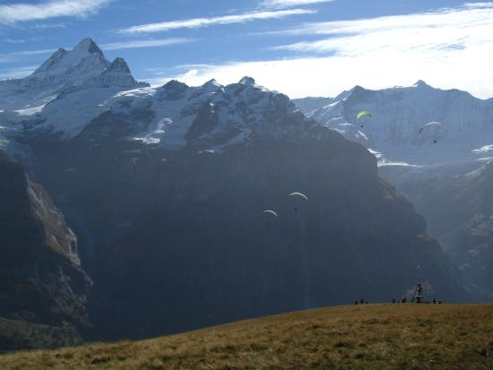 Grindelwald, Suiza: Paragliding area