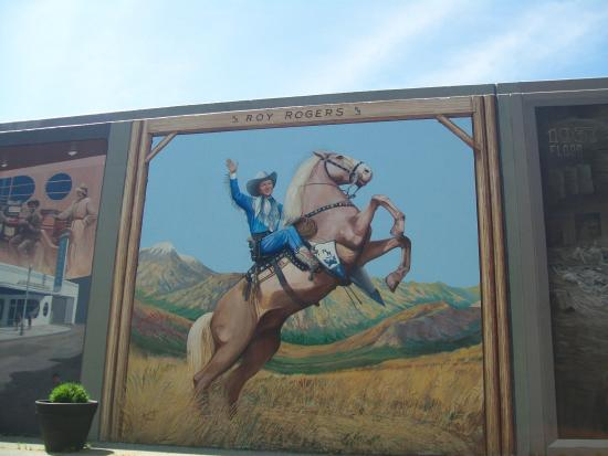 Portsmouth Floodwall Mural: Roy Rogers On His Horse Part 62