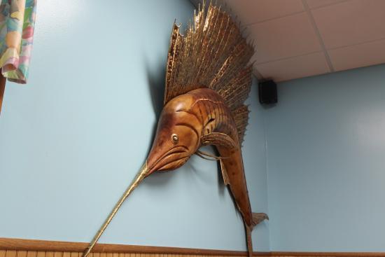 Kate's Pancake House: Marlin fish on the wall at Kate's