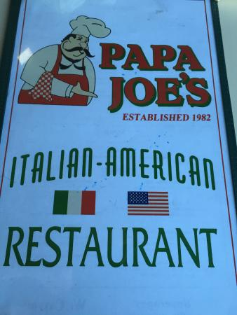 Papa Joe's: Menu Cover