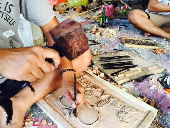 Bali Simple Wood Carving and Batik Class