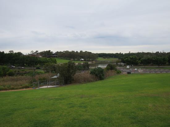 Sydney Olympic Park, Australia: 丘からの眺め