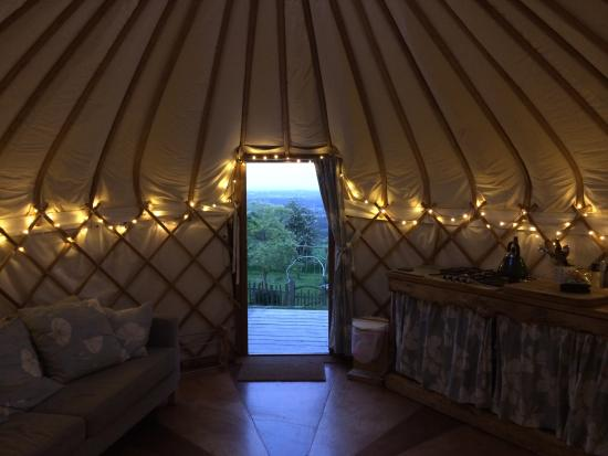 Offas Dyke Yurts: A peaceful evening with a great view