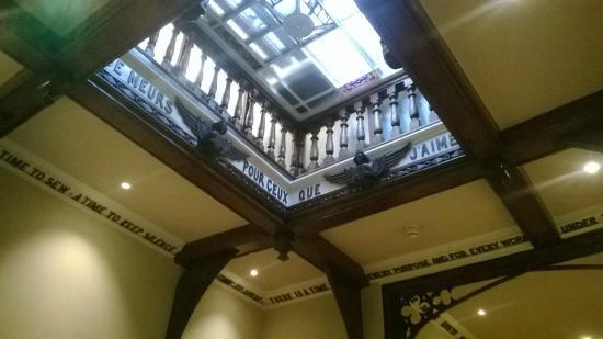 The Oaksmere: lovely atrium within main corridor