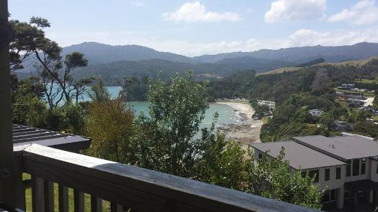Coromandel Seaview Motel Style B&B: View from bedroom deck