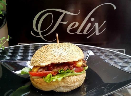 Felix: Have a tasty hamburger before your emerald adventure