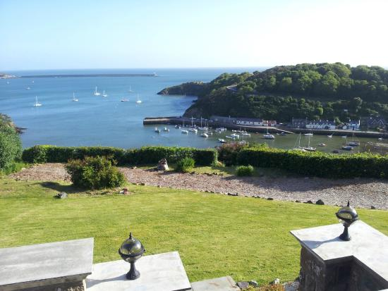 Pentower: view from terrace at Fishguard harbour