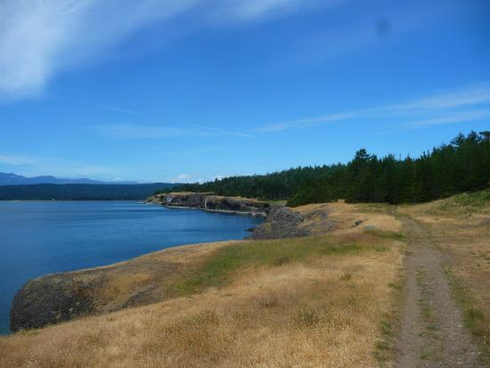 Helliwell Provincial Park: looking towards the bluffs.