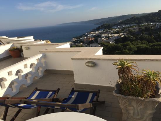 Degli Ulivi: vista sul mare dal terrazzo della camera