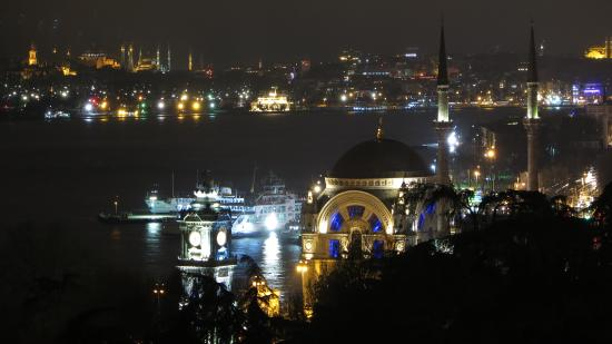 Swissotel The Bosphorus: gorgeous night view from my room