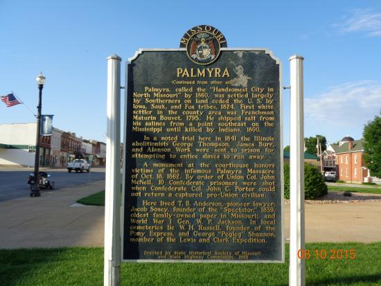 Palmyra MO History Side One