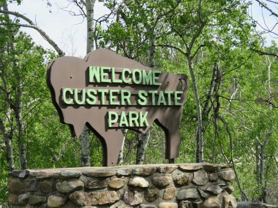 Entrance to Custer State Park Picture of Blue Bell Lodge Custer