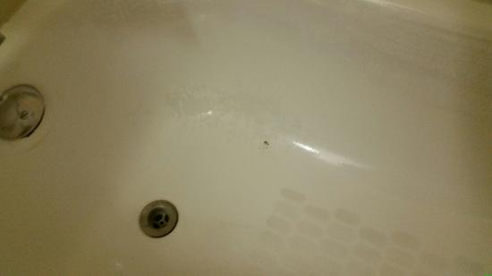 Days Inn Woodland: filthy tub with paint rubbing off