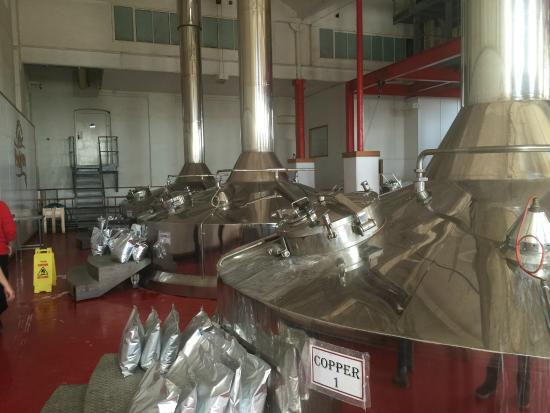 Marston's Brewery Tour: Brewery floor