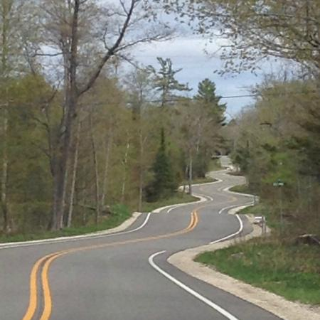 Great Road at the top of Door county