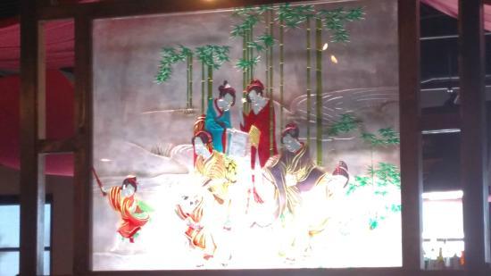 Kawa Japanese Restaurant: kawa stained glass decoration