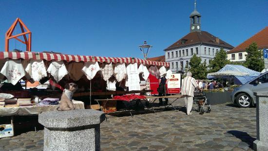 Bischofswerda, Deutschland: The market square