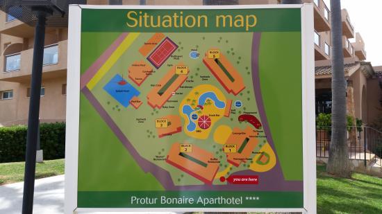 Hotel site planmap Picture of Protur Bonaire Aparthotel Cala
