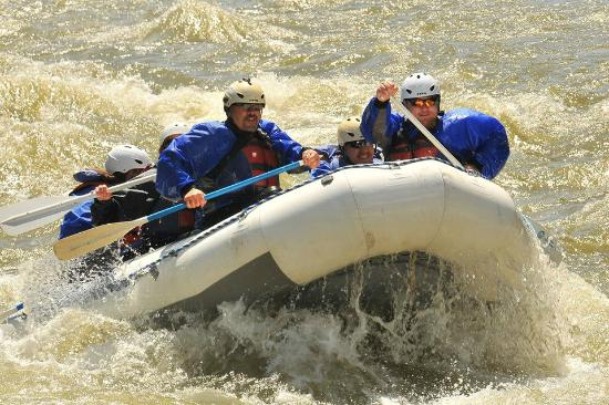 Geyser Whitewater Expeditions: Catch a lil air!