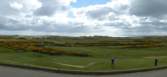 Cruden Bay Golf Club: View from club house towards 1st
