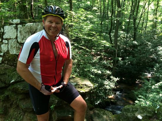 The Oaks Bed & Breakfast: David at Poinsett Bridge - Cycling Route from steps of B&B